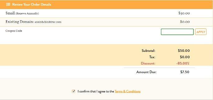 Hướng dẫn đăng ký a small orange hosting giảm giá