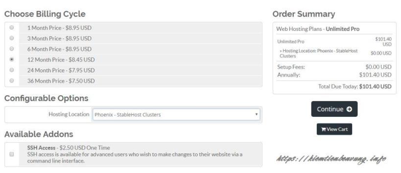 Cách mua hosting Stablehost với coupon giảm 60% rẻ nhất